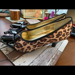 *Michael Kors* Cheetah Black Bow w/Kitten Heel LN!